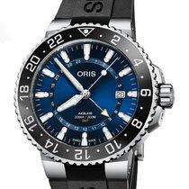 Oris Aquis GMT Date Stahl Blau Deutschland, Berlin