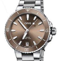 Oris Steel Automatic Brown new Aquis Date