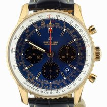 Breitling Rose gold Automatic Blue 43mm new Navitimer