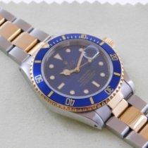 Rolex Submariner Date 16613 Foarte bună Aur/Otel 40mm Atomat
