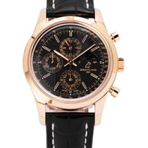 Breitling Transocean Chronograph 1461 Rose gold 43mm Black No numerals