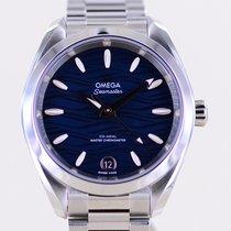 Omega Seamaster Aqua Terra Acier 34mm Bleu Sans chiffres