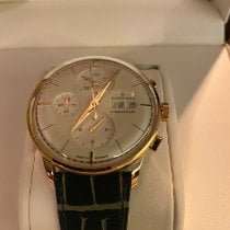 Junghans Rose gold Automatic Champagne No numerals 40;7mm new Meister Chronoscope