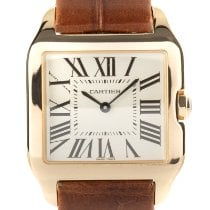 Cartier Santos Dumont Yellow gold 28mm Silver
