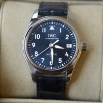IWC Pilot's Watch Automatic 36 Stål 36mm Blå Arabiska