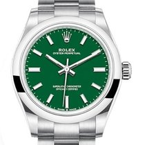 Rolex Oyster Perpetual 31 Acero 31mm Verde Sin cifras