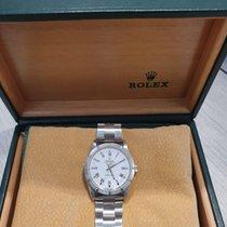 Rolex Air King Precision Steel 34mm Silver Roman numerals