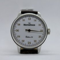 Meistersinger Steel Manual winding White Arabic numerals 43mm new Scrypto