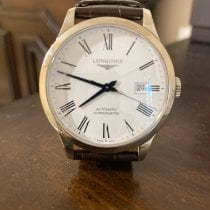 Longines Record pre-owned 38.5mm Calf skin