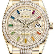 Rolex 128348RBR Желтое золото 2020 Day-Date 36 36mm новые
