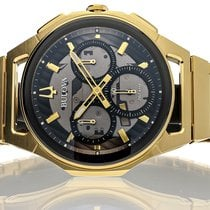 Bulova Gold/Steel 44mm Quartz 97A144 new