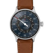 Meistersinger Pangaea Day Date Steel 40mm Blue Arabic numerals