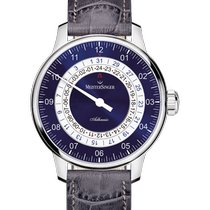 Meistersinger Adhaesio Steel 43mm Blue Arabic numerals