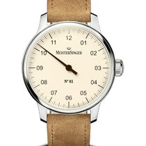 Meistersinger N° 01 Steel 43mm Mother of pearl Arabic numerals