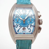 Franck Muller Steel Automatic Blue 56.5mm pre-owned Conquistador