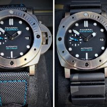 Panerai Luminor Submersible 1950 3 Days Automatic Titanio 47mm Negro Sin cifras