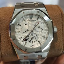 Audemars Piguet Royal Oak Dual Time occasion 39mm Blanc Date GMT Acier