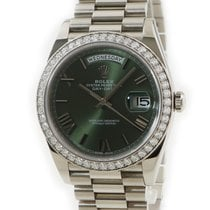 Rolex 228349RBR Or blanc Day-Date 40 occasion