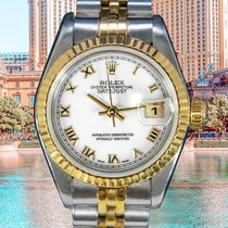 Rolex Datejust Золото/Cталь 26mm Cеребро Без цифр