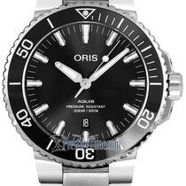Oris Steel Automatic Black 39.5mm new Aquis Date