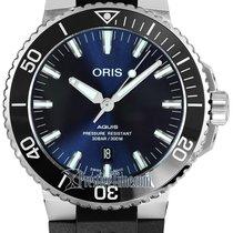 Oris Aquis Date Steel 39.5mm Blue