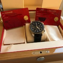 Omega Speedmaster Professional Moonwatch Moonphase occasion 44,25mm Phase lunaire Chronographe Date Cuir de crocodile