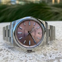 Rolex Oyster Perpetual 34 Steel 34mm Pink No numerals United Kingdom, London