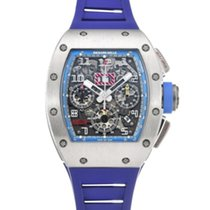 Richard Mille RM 011 pre-owned 49.9mm Grey Chronograph Rubber