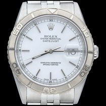 Rolex Datejust Turn-O-Graph Acier 36mm Blanc Sans chiffres