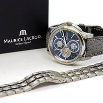Maurice Lacroix Pontos Chronographe pre-owned 42.5mm Blue Steel