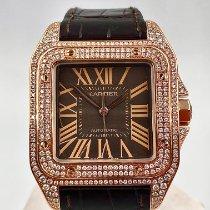 Cartier Santos 100 Rose gold 38mm White Roman numerals