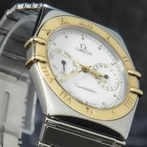 Omega Constellation Day-Date Gold/Steel 33mm White No numerals