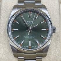 Rolex Oyster Perpetual 34 Steel 34mm Green Arabic numerals