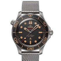 Omega Titanium Automatic Black No numerals 42mm new Seamaster Diver 300 M