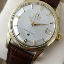 Omega Constellation pre-owned 34.5mm Silver Leather