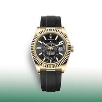 Rolex Sky-Dweller Gelbgold 42mm Schwarz Keine Ziffern