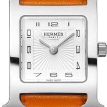 Hermès nowość Kwarcowy 21mm Stal Szkiełko szafirowe
