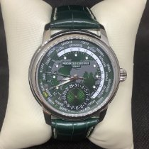 Frederique Constant Manufacture Worldtimer Steel 42mm Green United States of America, New Jersey, Fords