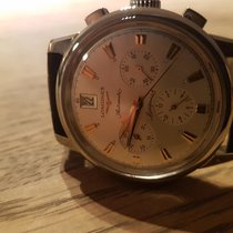 Longines Conquest Heritage Steel 38.5mm Silver No numerals