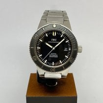 IWC Steel Automatic Black 42mm pre-owned Aquatimer Automatic 2000