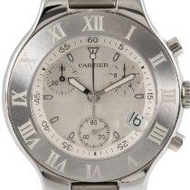 Cartier 21 Chronoscaph Stahl 38.5mm Silber Deutschland, Karlsruhe