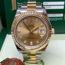 Rolex Datejust II Acero y oro 41mm Champán Romanos