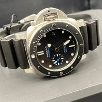 Panerai Luminor Submersible Stål 42mm Svart Inga siffror