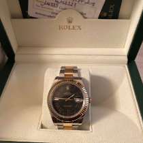 Rolex Datejust II Or/Acier 41mm Noir Romains France, Paris
