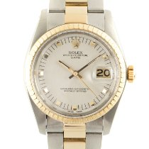 Rolex Oyster Perpetual Date Gold/Steel 34mm Silver
