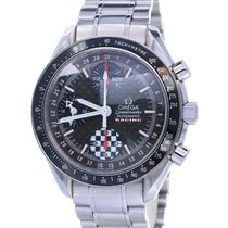 Omega Speedmaster Day Date tweedehands 39mm Zwart Chronograaf Datum Dagaanduiding Tachymeter Staal
