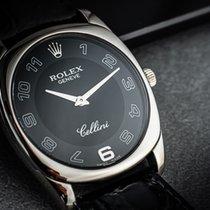 Rolex Cellini Danaos Oro blanco 33mm Negro Arábigos