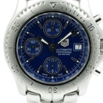 TAG Heuer Link pre-owned 42mm Blue Chronograph Date Steel