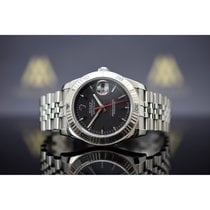 Rolex Datejust Turn-O-Graph Steel 36mm Black