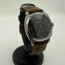 Panerai Titanium Automatic Brown Arabic numerals 45mm pre-owned Radiomir 1940 3 Days Automatic